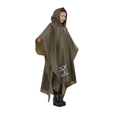 rain Reuse Adult Outerwear Poncho Emergency Hood Camping Free Size Raincoat