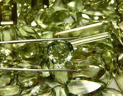 100 Ct Wholesale Lot Natural Brazilian Vvs Green Amethyst Cut Faceted Cabochon