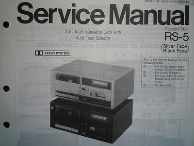 technics rs 5 rs m24 cassette tape deck service manual. Black Bedroom Furniture Sets. Home Design Ideas