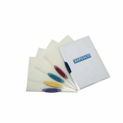 Rapesco A4 Assorted Pivot Clip Files Pack of 5 0786 [HT40339]