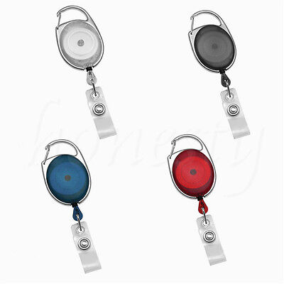 1/3PCS Retractable Reel Key Chain Pull Key ID Card Badge Tag Clip Holder Buckle