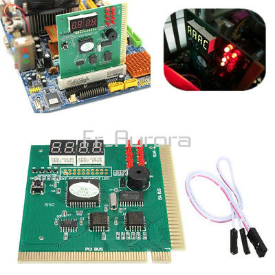 PC Motherboard Analysis Diagnostic Card 4-Digit LED PCI/ISA POST Code Analyzer