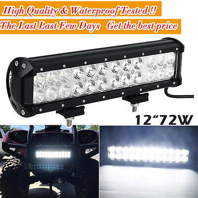 "12""Inch 72W CREE LED WORK LIGHT BAR COMBO SUV OFFROAD VS 7"" 36W 4"" 18W 20"" 120W"