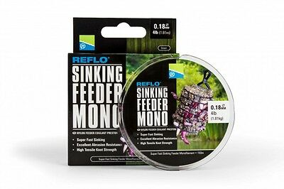 Preston Innovations Reflo Sinking Feeder Mono Reel Line BRAND NEW FOR 2017