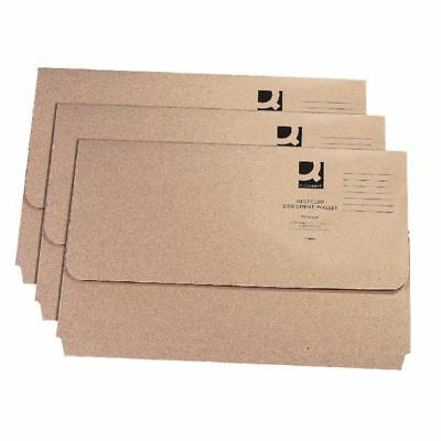 Q-Connect Recycled Buff Kraft Document Wallet Pack of 50 KF26090 [KF26090]