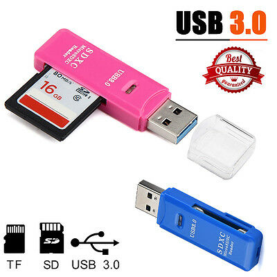 2 in 1 USB 3.0 High Speed Micro SD SDXC TF T-Flash Memory Card Reader Adapter