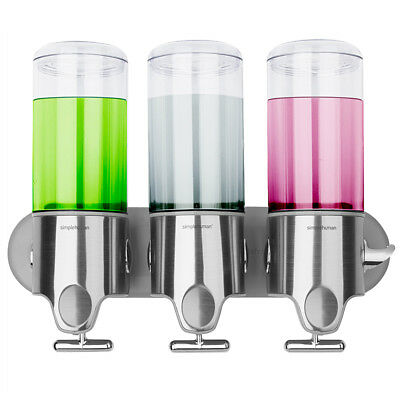 NEW Simplehuman Triple Shampoo, Conditioner & Soap Dispensers