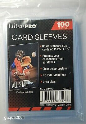Ultra Pro Soft Sleeves for YuGiOh, Pokemon and MTG Trading Cards, 1 Pack of 100