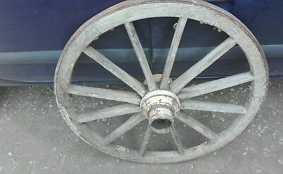 Vintage old wooden cart wagon wheel 81cm FREE DELIVERY