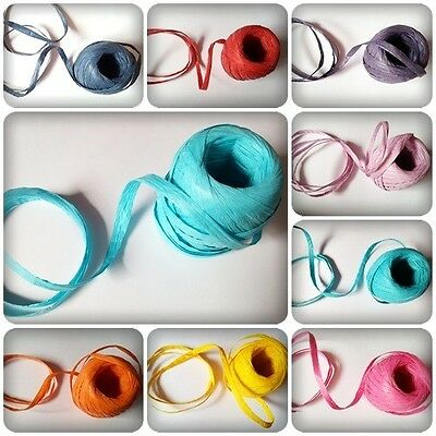 5m Paper Raffia Ribbon - 7mm Thickness [Various Colours Available]