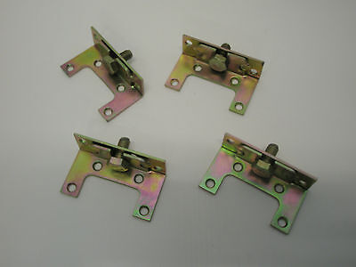 4 BED FRAME BRACKETS  PASSIVATED FURNITURE 29 x 87mm WITH BOLTS CABINET H219
