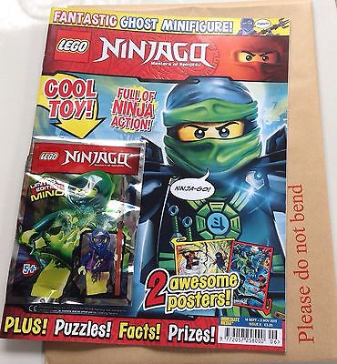 Lego NINJAGO magazine Issue 6+Limited Edition MING Ghost Minifigure + 2 Posters