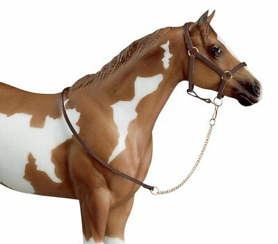Breyer Horses Traditional Size Leather Halter with Leather Lead Rope #2456 NIP