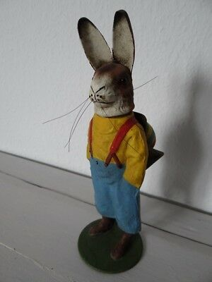 Alter Candy Container Candybox Vintage Osterhase Rabbit Candy Pappmachee Box
