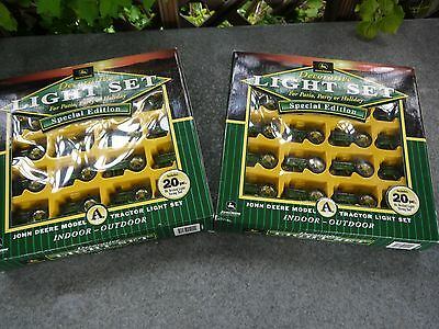 2 SETS-John Deere Model a Tractor Light Set 20 String new Christmas party tree