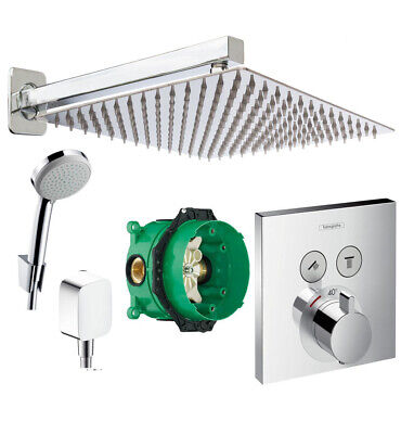 HANSGROHE Select Touch Thermostat, Ibox 300mm Kopfbrause,ShowerSelect ibox A2-QR