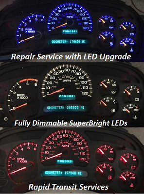 2003 chevy suburban instrument cluster not working