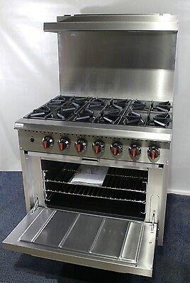 New Infernus 6 Burner Gas Range Cooker with Oven