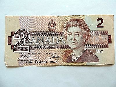 1986 Canada Two ($2) Dollar Note