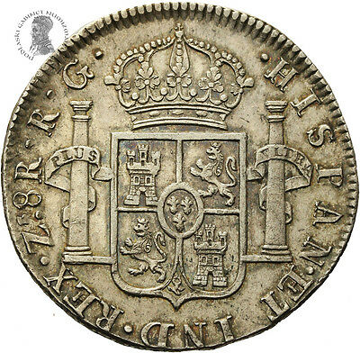 Mexico War of Independence 8 Reales Zacatecas Mint 1821 R.G. AU
