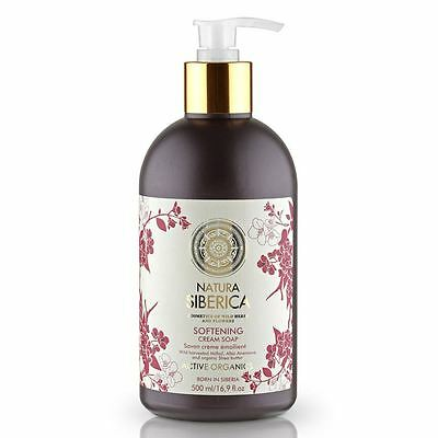 Natura Siberica Softening Cream Soap 500ml with Organic Shea Butter