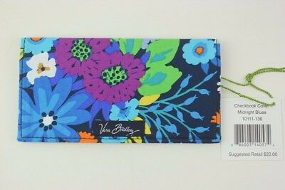 New With Tags Vera Bradley Midnight Blues Checkbook Cover