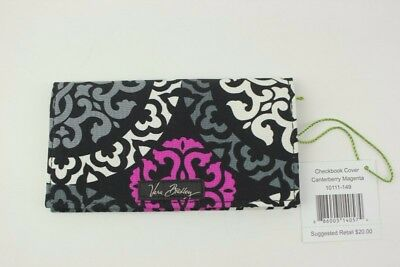 New With Tags Vera Bradley Canterberry Magenta Checkbook Cover