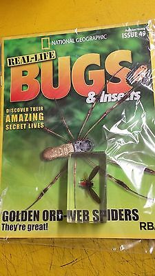 Real -Life Bugs & Insects, = Issue =49, =Golden Ord-Web Spiders, = Mag + Insect
