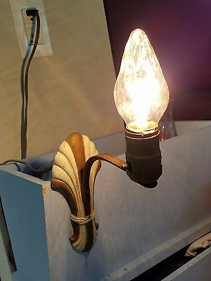 Antique Vintage Electric Wall Sconce Lamp with Bulb Art Deco Unique