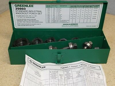 "Greenlee #39860 Industrial Knockout Punch Set for 3/4"" to 1-1/2"""