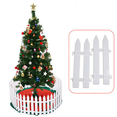 5Pcs White Fence Christmas Tree Garden Fencing Lawn Edging Home Yard Fence