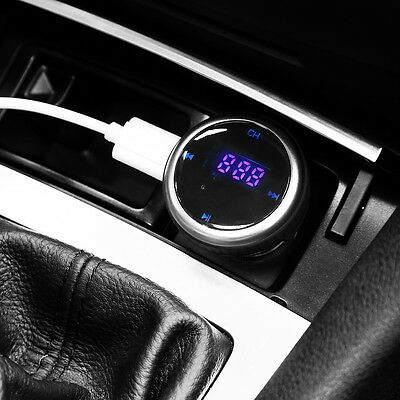 Mini Bluetooth Car Kit Wireless Handsfree Call FM Transmitter MP3 Music Player