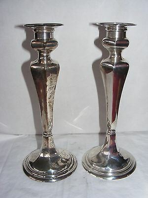 GORHAM Antique Pair Sterling Silver Candlesticks Ca.1920+ Appraised