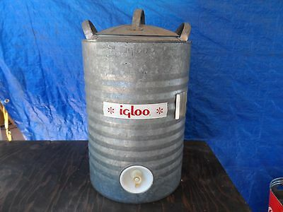 Vintage IGLOO 5 Gallon Galvanized Water Jug Cooler Heavy Duty