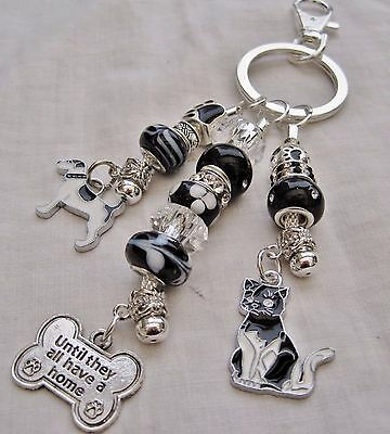 Dog/cat Rescue Bag Charm-Until they all have a home-Dog rescue shelter Serbia