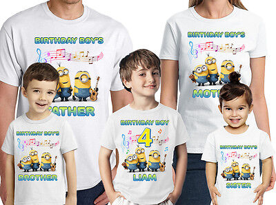 Minions Birthday Shirt Personalized Name-Age Customized Minions Family Shirts