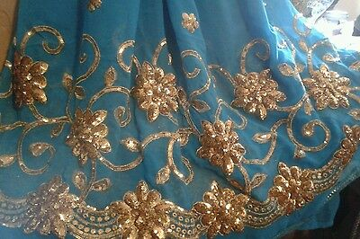 Indian sequin saree,sari,wedding,eid,party,asian,pakistani BNWOTS!
