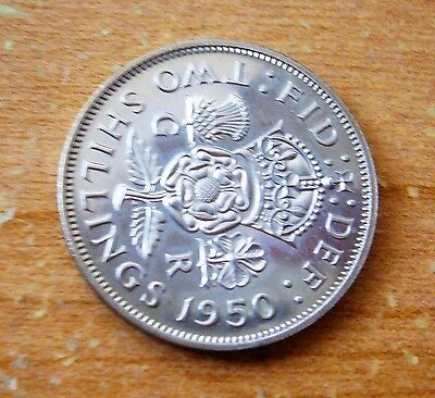 1950 Great Britain Two Shilling Coin Au