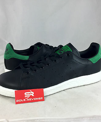 NEW adidas Originals STAN SMITH BOOST Black Green Men Shoes Sneakers BB0009 5d4ef71d4d