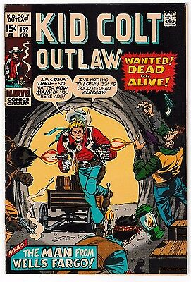 KID COLT OUTLAW #152 (FN) Classic Western Early Bronze-Age Issue! 1971 Marvel