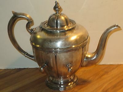Antique SANBORNS Mexico Sterling Silver Coffee Pot,Three Owl Mark, Approx 48 Oz