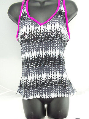dda347a622dd3 Gerry Women's Colorblock Tankini Top with Built in Bra Mulberry US Size M  NWT