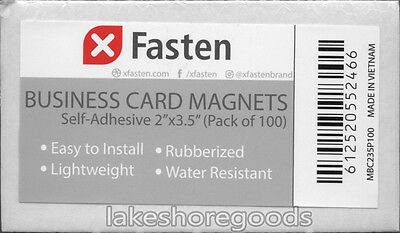 XFasten Self Adhesive Business Card Magnets Pack of 100 Attach to Back of Cards