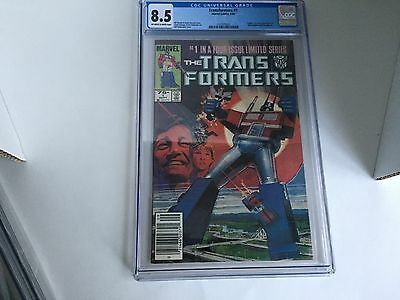Transformers #1--CGC 8.5--Origin and first appearance of Transformers in comics!