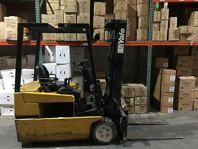 2003 Yale 3 Wheel 3000 lbs 3 Stage Sideshift Electric Forklift CHASSIS ONLY
