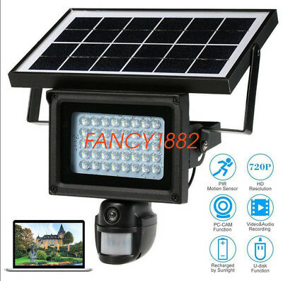 NEW Solar Power Outdoor Security DVR Camera With Night Vision TF Card 1280*720HD