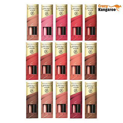 Max Factor Lipfinity 24HRS Colour Lipstick MakeUp Lip Gloss All Shades available