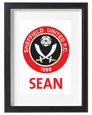 Sheffield United Fc A4 Poster Name Personalised League One 2017
