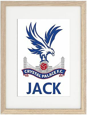 Crystal Palace A4 Poster Name Personalised Premier League Zaha Benteke Cabaye