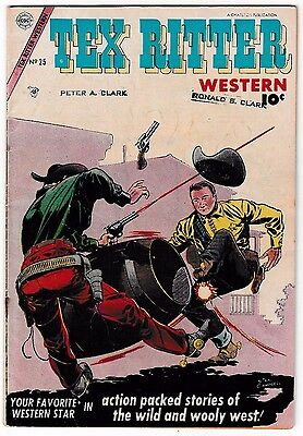 TEX RITTER WESTERN #25 (VG-) Back Cover Photo! Charlton 1954 Young Falcon App!